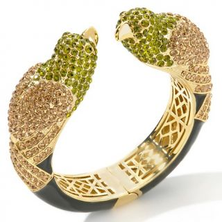 181 688 joan boyce love birds pave crystal hinged cuff bracelet note