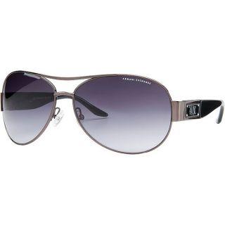 armani exchange sunglasses women a x logo aviator ruthenium black gray