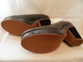 FARYL ROBIN~ANTHROPOLOGIE ~ Black Pumps ~Leather Suede & Patent ~ EUC
