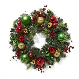 184 652 winter lane winter lane battery operated 24 led wreath with