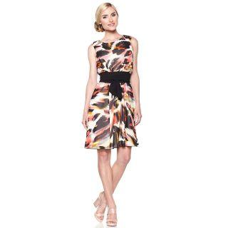 179 863 tiana b light lovely printed chiffon dress with belt rating 29