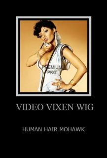 NEW VIDEO VIXEN EXOTIC SEXY MOHAWK HUMAN HAIR WIG HUMAN HAIR