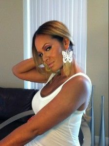 Inspired Basketball Wives Evelyn Lozada Butterfly Earrings Chandelier
