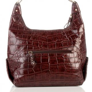 Michael Rome Michael Rome Croco Embossed Leather Hobo with Studs