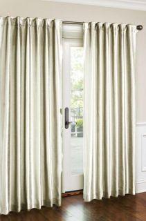 HLC.ME   2 PCS. of Faux Silk White Curtains Window Treatment Panels