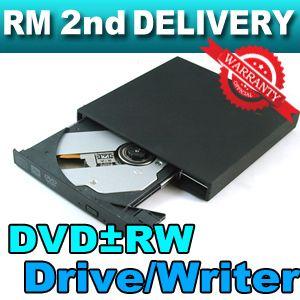 External 2 0 USB Slim CD DVD±RW ROM Burner Dual Layer Drive Writer