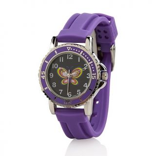 201 466 grape scented purple jelly band butterfly dial mood watch note