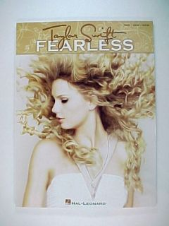 Taylor Swift Fearless Piano Vocal Guitar Sheet Music Song Book Hal