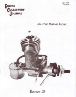 Master Index Everson 29 Shop Tools Engine Collectors Journal 1988 RC