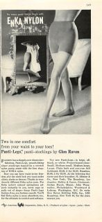 1960 Panti Legs Enka Nylon Stockings Glen Raven Print Ad