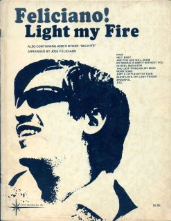 VINTAGE 1969 Jose FELICIANO song book LIGHT MY FIRE sheet music