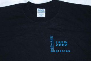 Enrique Iglesias CREW shirt 2002 rare BLK XL NEW