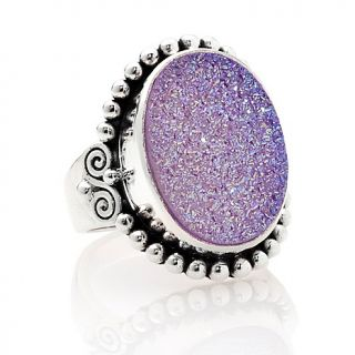 205 942 sajen lavender drusy sterling silver oval ring rating 1 $ 149