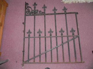 Wrought Iron Gate,Ornate Spike top Rods,50x35+ Fence Piece Parts