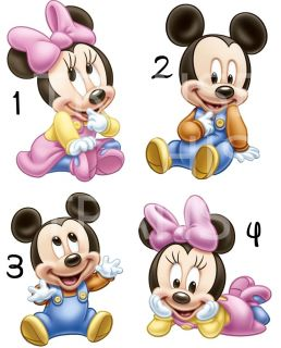 Minnie Mouse Baby Iron on T Shirt Fabric Transfer Also Stickers
