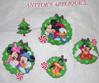 Mickey Mouse PALs Christmas Fabric Iron on Applique LK