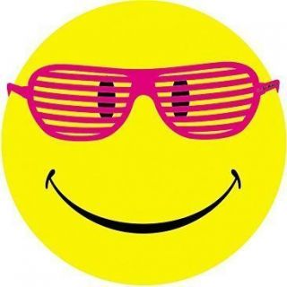 Happy Face T Shirt Smiley Face with Hot Pink Glasses Tee Funny Tank