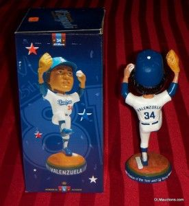Cy Young & MVP Fernando Valenzuela Los Angeles Dodgers Bobblehead