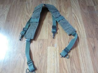 Vietnam War U s Army M1956 Combat Field Equipment Suspenders
