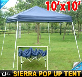 EZ Outdoor Sierra Pop Up Canopy Party Tent Gazebo Tailgating Tent Blue