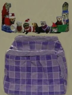 Ferret Toy Dog Clothes Purple Lavender Plaid Shirt 8