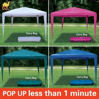 EZ Pop Up Wedding Party Tent 10x10 Folding Gazebo Beach Canopy w Carry