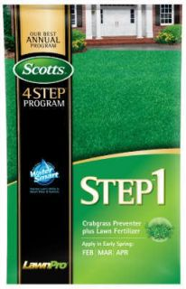 Scotts 39180 5M Step 1 Fertilizer Crabgrass Preventer