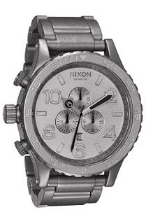 Nixon The 5130 Chrono Watch in Raw Steel