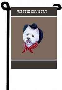 Westie Country Small Garden Flag 11x15