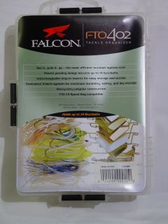 New Falcon Fishing Tackle Organizer FTO402 Buzzbaits Box