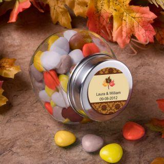 84   Personalized Fall Autumn Wedding Glass Jar Favors