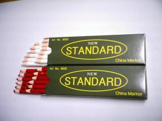 12 COUNTS CHINA MARKER WAX MARKING GREASE FABRIC PEEL OFF PENCIL NEW