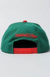 Michell & Ness he Milwaukee Bucks Arch ri Pop 2 Snapback Cap in