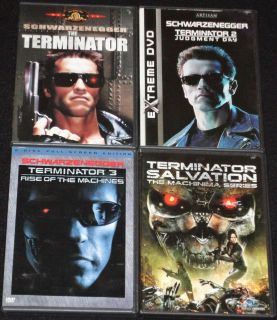 TERMINATOR 1,2,3,&4 COMPLETE 4 FILM 6 DVD DISC COLLECTION ARNOLD