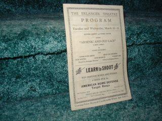 Erlanger Theatre Atlanta 1942 Program Laura Hope Crews Gone with The