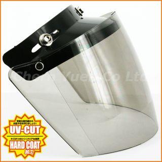 Visor Shield Face Mask UV Light Smoke Lens Glass for Open Face Helmet