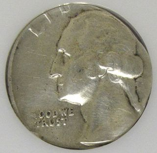 Washington s Mint Silver Quarter Struck on A Silver Dime Planchet