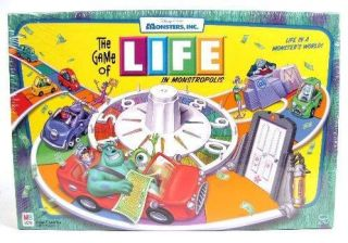 Disney Pixar The Game of Life in Monstropolis Monsters Inc Edition New