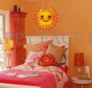 Sun Paper Lantern Lamp w 12ft Cord Easy Installation Kids Room Teenage