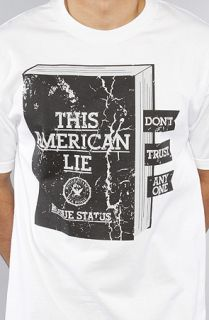 DTA   Rogue Status The American Lie Tee in White Black