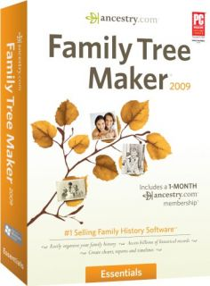 Family Tree Maker 2009 Essentials PC New