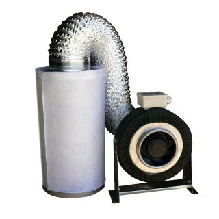 Duct Blower Exhaust Fan Carbon Filter Kit 500 CFM Combo B