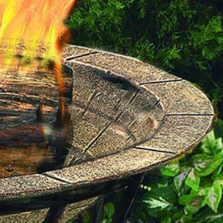 CobraCo FB6102 Round Cast Iron Brick Finish Fire Pit