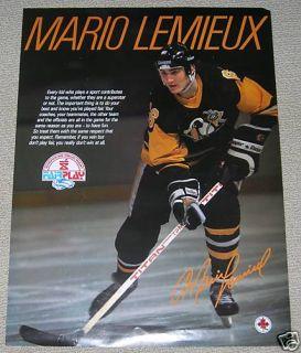 NHL Pittsburgh Penguins Mario Lemieux Fair Play Poster