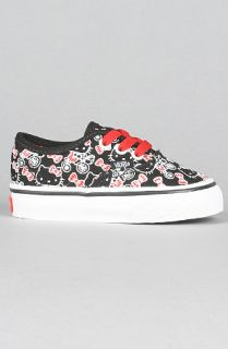 Vans The Toddler Hello Kitty Authentic Sneaker in Black  Karmaloop