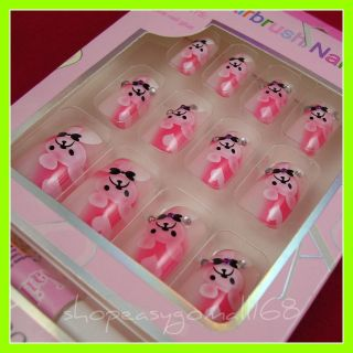 12 Pcs Professional Design Acrylic False Nails Tips 11