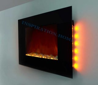Wall Mounted Electric Fireplace Control Remote Heater Adjustable