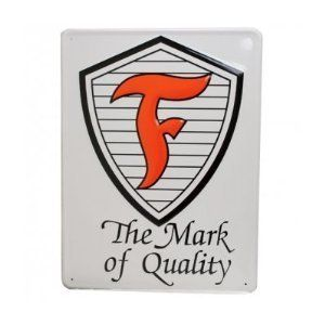 Firestone Shield Metal Replica Sign Coker Tire