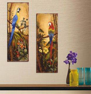 Original Hot Sell Abstract Modern Wall Deco Oil Painting Two Parrot No