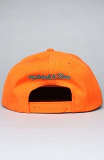 Mitchell & Ness The Miami Dolphins Logo Snapback Hat in Orange